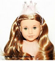 Gold Headband With Bow 18 in Doll Clothes Hair Accessory Fits American Girl  #C