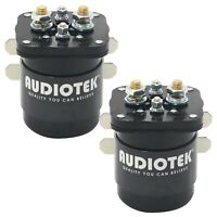 2x Audiotek 500A 12V Continuous 500 Amp Mobile Audio Relay and Battery Isolator