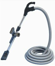 DUCTED VACUUM CLEANER SWITCH HOSE & TOOL KIT 9M SILVER HOSE SUIT ALL MAKES