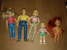 Fisher Price Loving Family Lot Mom Dad Daughter Baby 1998 2011 Used Blonde