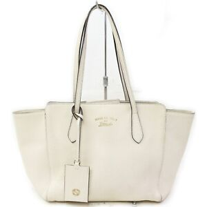 Gucci Shoulder Bag  Whites Leather 1520467