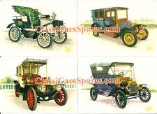 N.4 Cartoline Postali Auto Classiche Fiat 8 HP - 24 / 32 CV - 2 / 18 HP - Ford T
