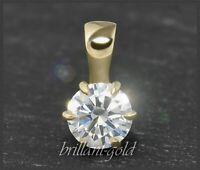 Diamant Solitär Anhänger, Brillant 0,57ct, River D & Si1; 585 Gold Damenanhänger