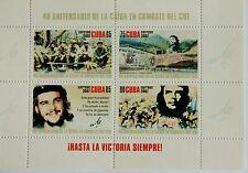 Che Guevara Blocco di 4 francobolli Mint stamps Havana 40 Anniversary of death
