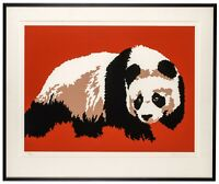 Shirley Penman, Panda Serigraph, Signed and Numbered #18/125, Nicely Framed
