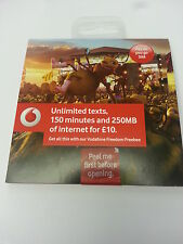 Vodaphone Pay As You Go SIM Card Standard & Micro size ,brand new sealed