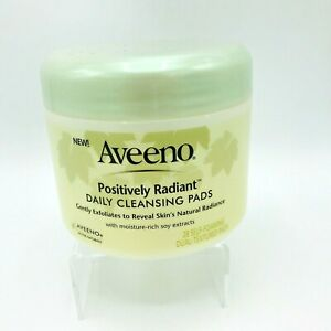Aveeno Positively Radiant Daily Cleansing Self-Foaming Dual Texture Pads 28 ct