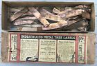 Antique Indestructo Metal Tree Species Labels Copper W Cheshire CT Ball & Socket