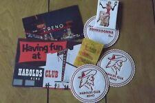 Vintage Harrahs Casino Reno Nevada Postcards & Memorabilia 40's & 50's