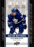 2018-19 Upper Deck Tim Hortons Game Day Action Auston Matthews #GDA-10