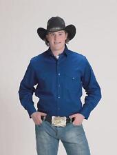 Western Express Mens ROYAL BLUE - RETRO WESTERN Shirt - 5XL - NEW - Long Sleeve
