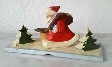 Figura in Legno Babbo Natale Santa Claus Decorazione di Candela