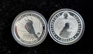 1990-2020 Kookaburra 1 oz Fine Silver Coin Perth Mint 30th Anniversary Australia