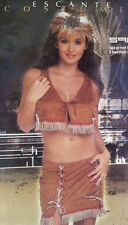 Escante Women's Indian Maiden Squaw Sexy 3 Piece Adult Costume Size XL