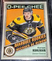 2019-20 Karson Kuhlman O-Pee-Chee Marquee Rookies Retro #522 Boston Bruins