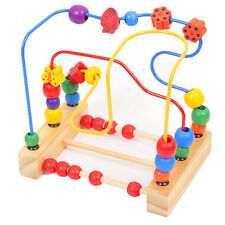 Worth Kids Baby Colorful Wooden Mini Around Beads Educational Game Toy Gift PL