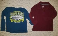 Boys Lot of 2 Long Sleeve Graphic Shirts Size 4/4T