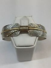 NativeAmerican Navajo 12k Gold Filled Over sterling silver Feather Cuff bracelet