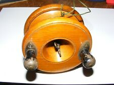 VINTAGE WOOD BRASS FLY FISHING REEL 3.5 INCHES ALLCOCKS GAMAGES STAR BACK