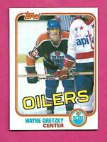 1981-82 TOPPS # 16 OILERS WAYNE GRETZKY NRMT+  CARD (INV# D3202)