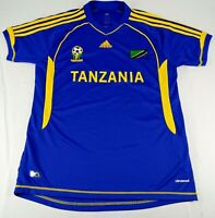 Adidas Men's Tanzania Football Federation ClimaCool Blue Soccer Jersey Sz XL