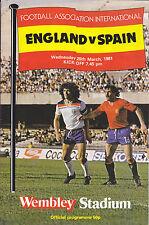 ENGLAND v SPAIN 80-81 AT WEMBLEY STADIUM