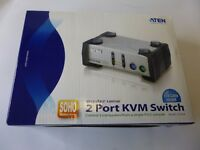 ATEN CS-82A 2-fach 2 Port Desktop KVM Switch gebraucht LPPCZ