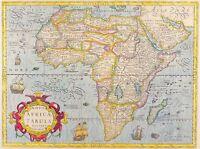 A4 Réimpression de Vieux Carte de Afrique Nombre 2