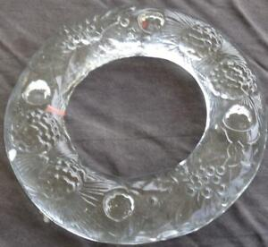 Beautiful Solid Pressed Glass Holiday Candle Stick Holder - VGC - GREAT PIECE