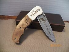 "BIG GAME HUNTING KNIVE ""WHITE TAIL DEER"" BY AMERICAN MINT ( Stainless Steel)"