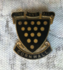 VINTAGE ONE AND ALL CORNWALL BADGE