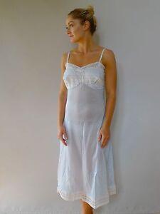 Vintage retro true 50s S M sheer blue petticoat slip excellent