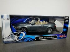BMW 645Ci Cabrio Die Cast Model 1/18 By Maisto Gray 31111 New