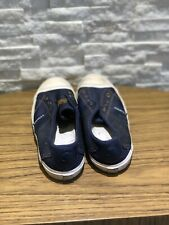 G STAR RAW SNEAKERS BLUE CANVAS SHOES UK SIZE 4 EU 37 GOOD CONDITION