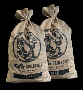 "2x 10 kg Grillkohle im Papiersack  Holzkohle BBQ ""Special"""