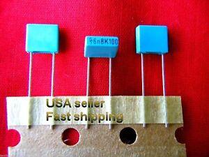 50 pcs-  .0068uf (0.0068uf, 6800pf)  100v  radial metalized poly film capacitors
