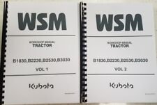 KUBOTA TRACTOR B1830 B2230 B2500 B3030 WORKSHOP MANUAL 2007 EDITION REPRINTED