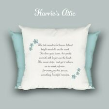 HANDMADE CUSHION ~ FUNERAL - LOSS - REMEMBRANCE - SOMETHING BEAUTIFUL REMAINS