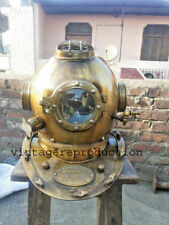 Antique Diving Helmet Scuba US Navy Mark V Deep Sea Marine Divers Helmet 18""
