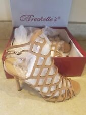 Breckelle's Women's High Heels natural Cage Open Toe Size  7-9-11 pick your size