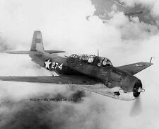 "Marine Corps Grumman TBF-1 Avenger in flight 8""x 10"" World War II Photo 370"