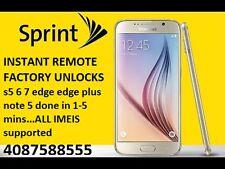INSTANT REMOTE Sprint Galaxy s7 & s7 EDGE factory unlock service 1-5 MINS