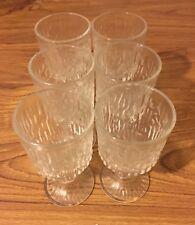 Vintage Glass Set Wine Prosecco Retro Toasting Glass Set Of 6 Glasses