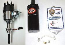 BB Mopar Billet Distributor w/Vacuum Advance-HRR688 Ignition Kit-Custom Curved