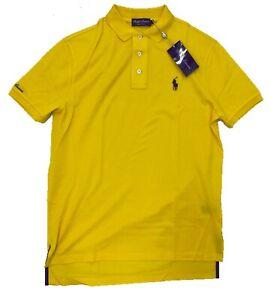 Ralph Lauren Purple Label Bright Yellow Cotton Polo Shirt Medium Made in Italy