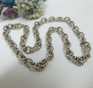 CAROLYN POLLACK RELIOS 925 STERLING SILVER LINK CHAIN NECKLACE 42.3 GRAMS