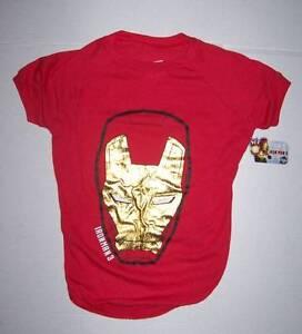 NWT Marvel Iron Man 3 Dog Shirt Size XS Red Gold Design Ironman
