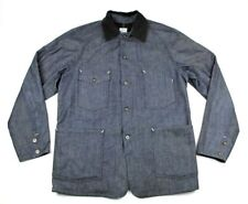 New $585 POST O'ALLS USA Denim Cotton Lined Engineer's Jacket Coat M Overalls