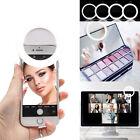 Mini Clip on LED Selfie Ring Light for Smartphone Desk Laptop Tablet - USB Cable