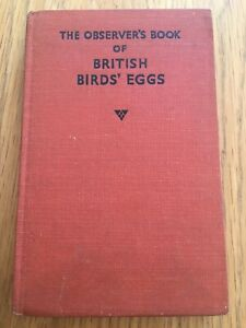 Observer's Book Of British Birds' Eggs Used Book 1954 1st Ed No.18 in series